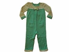 NWT Girl's Gymboree Tiny Teal green long sleeve shirt pants outfit 18-24 months