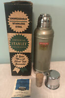 Vintage Stanley Super Vac Thermos w/ Cork Stopper Box Catalog Model N944