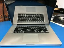 """Apple MacBook Pro 15"""" late 2011 A1286 2.2GHz i7 4Gb RAM unibody, LCD cracked"""