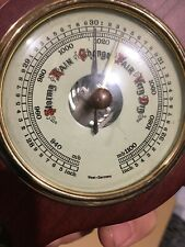 Vintage old German Barometer Thermometer wooden BAROSTAR precision instrument