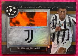 Topps UEFA Museum Collection 2020/21, Cristiano Ronaldo Patch Relic Card #16/150