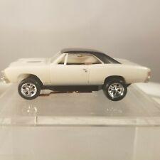 MoDEL MoToRING 1967 Chevelle White/Black  HO scale slot car T-jet Custome Wheels