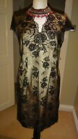 St Michael M&S Stunning Vintage Lace Evening Dress UK 12 EU 40