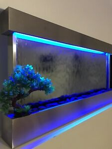 """JERSEY HOME DECOR WALL WATERFALL 47"""" Wide X 24"""" Tall Color Lights , Remote Ctrl"""