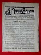alte Zeitschrift JUNG Bayern Nr. 9 und 10 vom 21. März 1919 ( 8053