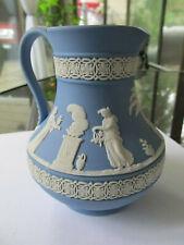 Wedgwood Jasperware Blue Etruscan Pitcher