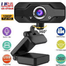 Webcam USB Camera Microphone HD 1080P For PC/Mac Laptop Desktop Video Call US