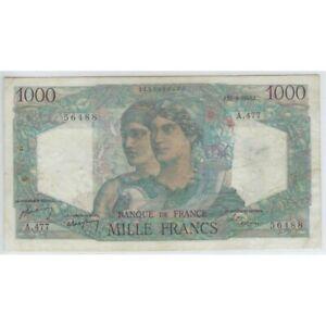 FRANCE 1000 FRANCS MINERVE ET HERCULE 26-8-1948 A.477 TTB