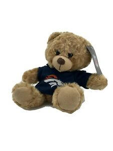 """Forever Collectibles DENVER Broncos NFL 9"""" Teddy Bear Plush BLUE sweater NWT"""