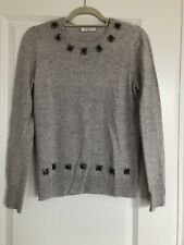 NEW EQUIPMENT FEMME JEWELED SWEATER SIZE SMALL