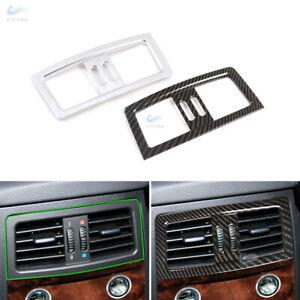 Carbon Fiber Rear Console Air Condition Outlet Vent Cover for BMW E60 E61 04-10