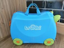 TRUNKI BLUE TERRANCE RIDE ON SUITECASE LUGGAGE CASE - FAST/FREE POST