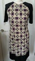 PEOPLE TREE cotton dress Size 12 organic cotton geometric pattern A line dress