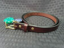 New Tory Leather Company English Bridle Leather Belt 30 Brass Buckle