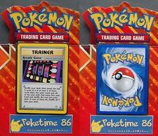 Pokémon, Wizards, Neo Génésis, Trainer ARCADE GAME, rare, 83/111, proche du neuf