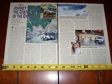 LAND ROVER ADVENTURE CENTRES - ORIGINAL 1996 ARTICLE