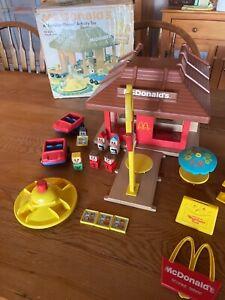 McDonald's Vintage 1974 Playskool Familiar Places Play Set Restaurant #430 & box