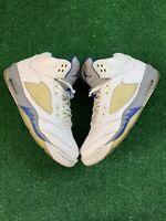 Nike Air Jordan 5 Retro 'Stealth' Men's Size 12 White/Blue/Grey 136027 142