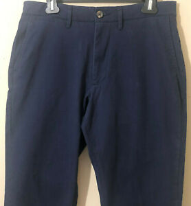 Goodfellow & Co Men's Athletic Fit Hennepin Chino Cotton Blend Pants Navy 36X30