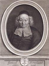 Portrait XVIIIe Ismaël Boulliau Boulliaud Bullialdus Astronome Mathématicien