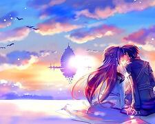 Sword Art Online Asuna and Kirito 5 Poster Japanese Anime Manga Wall Art Print