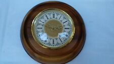 Vintage Wood & Brass Wall Clock Beautiful Display Roman Numbers Engraved Brass