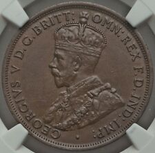1914 (Key Date) Australia Penny Uncirculated NGC MS-62 CV$3300