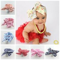 Cute Newborn Girl Kid Bow Rabbit Flower Baby Toddler Hair Band Turban Headband