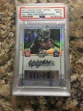 Rare PSA Pop 1 Mint 2017 Optic All-Pro Contenders Marshawn Lynch Auto #18/25