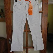 NEW Look Skinny Flare/Basso Aumento Bianco Jeans Taglia 12 NUOVO CON ETICHETTA