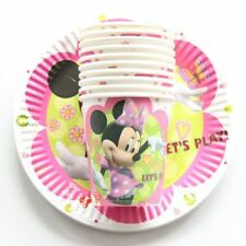 Party :  Paper Plate Cups Set Minnie Mouse Party Needs 10 pcs