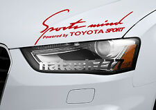 Sports Mind Powered by TOYOTA SPORT Camry Corolla Decal sticker emblem RED
