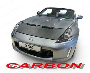 CARBON LOOK CAR HOOD BRA fits NISSAN 370Z since 2009 NOSE FRONT END MASK