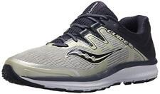 Saucony Men's Guide ISO Running Shoe, Grey/Navy, 11 W US