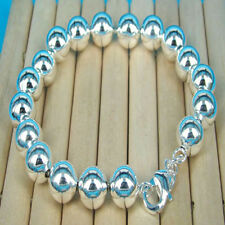 wholesale free shipping SOLID Silver 8MM balls  Bracelet DB105