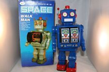 Space Walk man China ME 100 blue robot in WORKING order very near mint in box