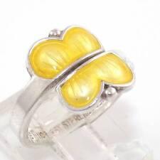 Aksel Holmsen Norway Sterling Silver Enamel Butterfly Ring Size 6.5 Adj LDA40