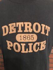 Detroit Police T-Shirt Men's Black Size Large