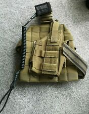 ARMY ISSUE BLACK HAWK LEG HOLSTER - EXCELLENT CONDITION - TAN - WITH PISTOL LANY