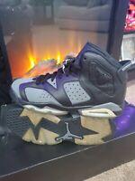 🔥CLEAN 🔥Nike Air Jordan 6 Retro Boys Shoes Size 5.5Y 384665-010 Grey Black