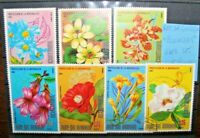 "REP. GUINEA ""FIORI FLOWERS ROSE ORCHIDEE FLORA"" TIMBRATI USED SET (CAT.5A)"