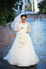 Mettallic Accented Lace Signature Bridal Dress