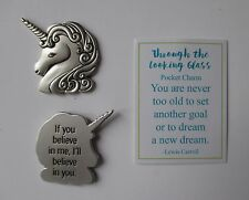 t Unicorn if you believe in me in you THROUGH LOOKING GLASS Pocket token charm