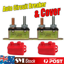 2 x Auto Van Circuit Breaker Winch Dual Battery Fuse Automatic Reset Cover 50AMP