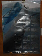 "Amtrak Wall Calendar 2002 Acela Streamliner23 1/2 x 33 1/2"", Metal Edges 47"