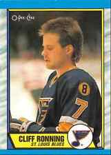 1989-90 O-Pee-Chee Tembec Test Cliff Ronning Rookie St Louis Blues #45