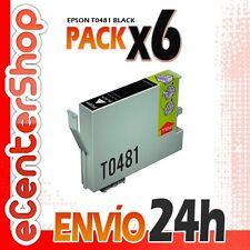 6 Cartuchos de Tinta Negra 0481 NON-OEM Epson Stylus Photo RX620 24H