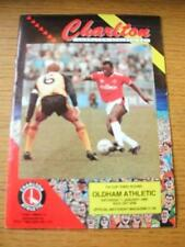 07/01/1989 Charlton Athletic v Oldham Athletic [FA Cup] (Folded, Team Changes).