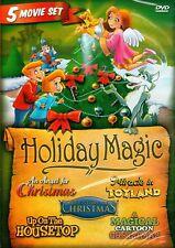 HOLIDAY MAGIC (DVD) 5 Movies Miracle in Toyland, Magical Cartoon Christmas Angel