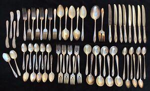 QUEEN BESS SILVERPLATE FLATWARE Vtg Oneida Community Fork Spoon Knive Silverware
